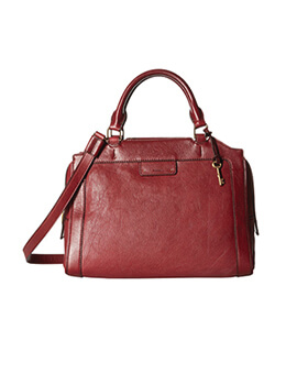 FOSSIL Logan Large Satchel Wine