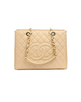 CHANEL Grand Shopping Tote Beige GHW