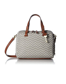 FOSSIL Rachel Fabric Satchel Neutral