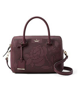 KATE SPADE KS Cameron ST Perforated Large Lane Deep Plum