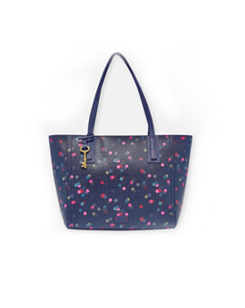 FOSSIL Emma Tote Dots Canvas