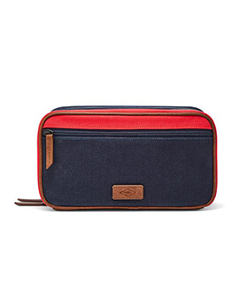 FOSSIL Double Zip Shave Kit Red