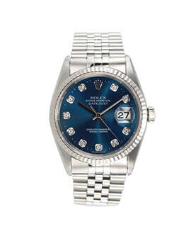 Rolex Datejust 36mm Blue computer dial diamond index 116234 'V'