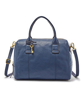 FOSSIL Jori Satchel Large Midnight Navy