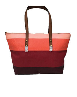 FOSSIL Jenna Tote Red Multi