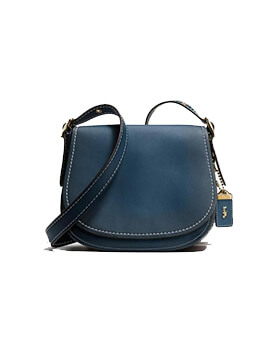 COACH 55036 GLVTN SADDLE BAG 23 CORNFLOWER
