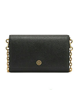 TORY BURCH TB Robinson Chain Wallet Black