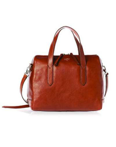 FOSSIL Sydney Satchel Brown