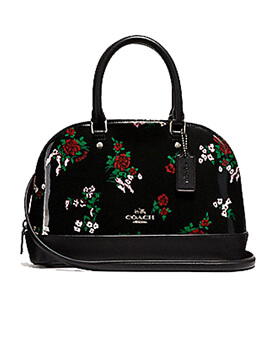 COACH F25857 Mini Sieraa Satchel Black Multi