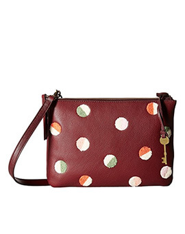 FOSSIL Devon Crossbody Carbernet