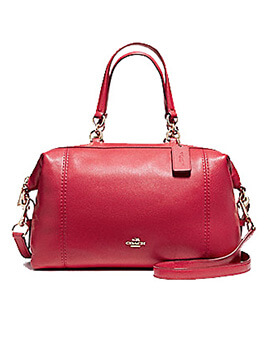 COACH Lennox Satchel True Red