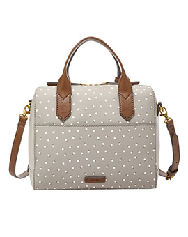 FOSSIL Fiona Satchel White Multi