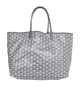 GOYARD Grey Chevron Saint Louis PM Tote Bag
