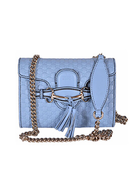 GUCCI Small Emily Light Blue