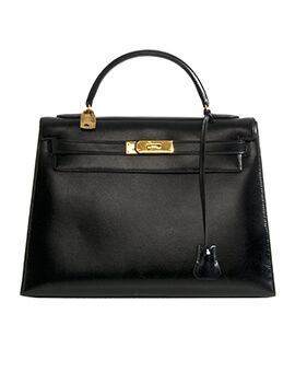 HERMES Kelly35 Black #D