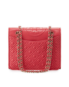 TORY BURCH TB Fleming Medium Quilted Daek Peony
