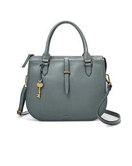 FOSSIL Ryder Satchel Steel Blue