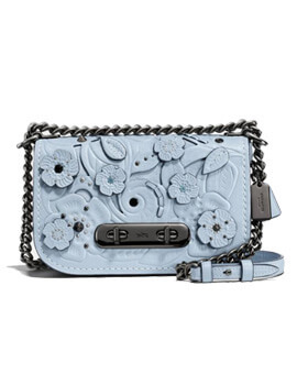 COACH Swagger Tea Rose Pale Blue Swagger