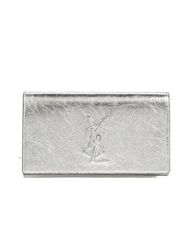 YVES SAINT LAURENT YSL Belle Du Jour BDJ Clutch in Silver