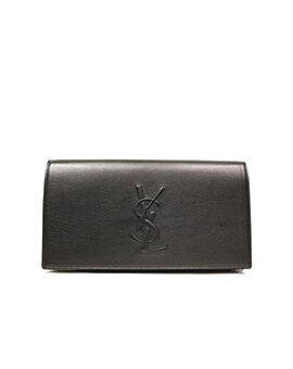YVES SAINT LAURENT YSL Belle Du Jour BDJ Clutch in Black