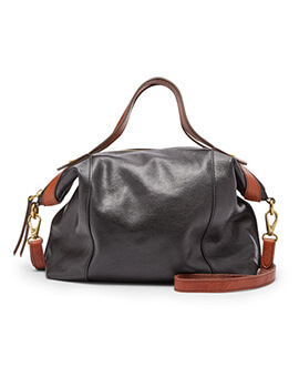 FOSSIL Sadie Satchel Black Brown