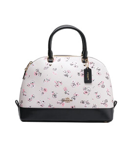 COACH Light Pink Wildflower Sierra Satchel