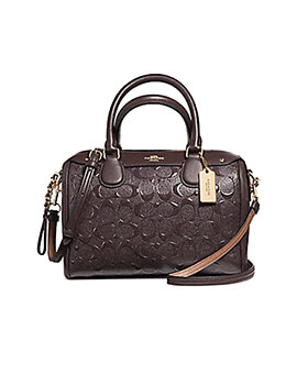 COACH Mini Bennet Oxblood Signature