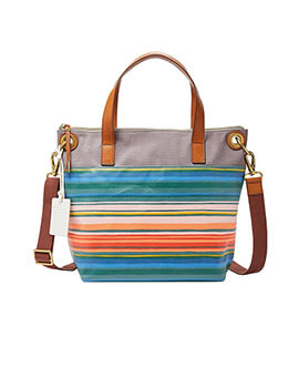 FOSSIL Keely Tote Stripes