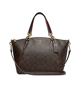 COACH Small Kelsey Light Brown Oxblood