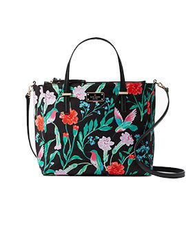 Kate Spade Alyse Wilson Road Hummingbird Floral Blackmulti
