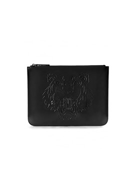 KENZO Clutch All Black Patent