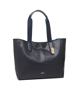 COACH F59818 Darby Tote Large Midnight in Navy