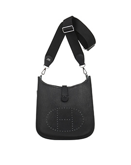HERMES Mini Evelyn in Black C