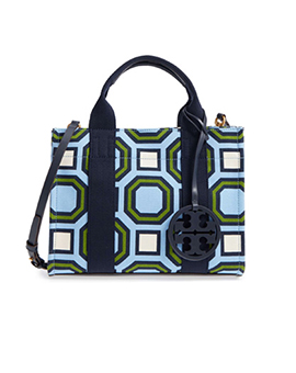 TORY BURCH TB Mini Chambray Tote