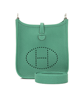 HERMES Evelyne III 29/PM in Green Vertigo