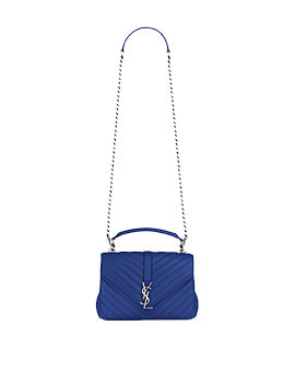 YVES SAINT LAURENT YSL Monogramme College in Blue RHW