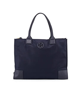 TORY BURCH TB Ella Nylon Tote in Black