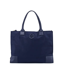 TORY BURCH TB Ella Nylon Tote in Navy