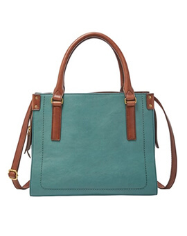 FOSSIL Claire Satchel Teal Green