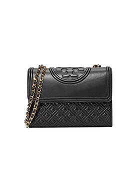 TORY BURCH TB Small Fleming Convertible in Black