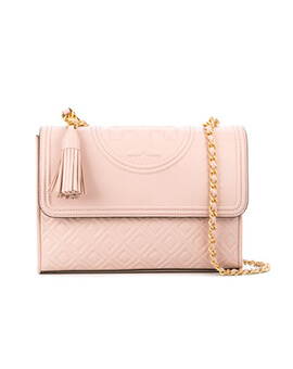 TORY BURCH TB Small Fleming Convertible in Shell Pink