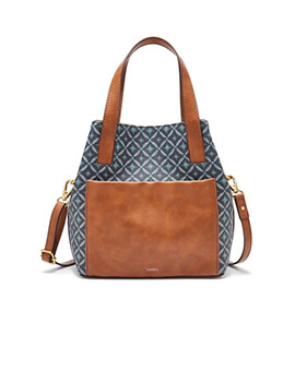 FOSSIL Darby Satchel Blue Multi