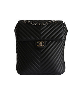 CHANEL Medium Chevron Backpack #22
