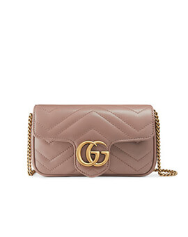 GUCCI Super Mini Marmont in Nude