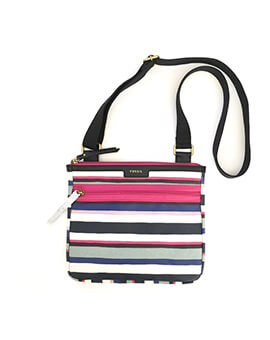 FOSSIL Eliza Crossbody Blue Multi Stripes