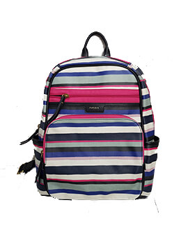FOSSIL Eliza Backpack Blue Multi Stripes