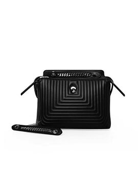 FENDI Small Dotcom Click Shoulder Bag in Black