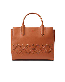 KATE SPADE KS Small Meriwether Flynn Street Warmcognac