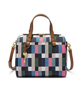 FOSSIL Rachel Satchel Bright Multi