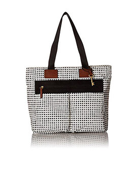 FOSSIL Bailey Tote Dot With Zipper